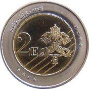 """2 E (Vatican City Euro Fantasy Token; """"Sede Vacante"""") – reverse"""