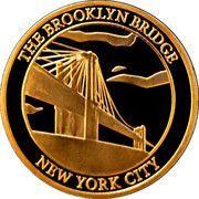Token - New York City (Brooklyn Bridge / Statue of Liberty) – reverse