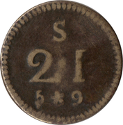 Coin weight - 21 Shillings – obverse