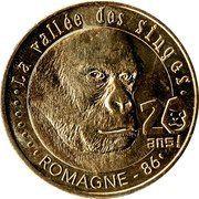 Monnaie de Paris Tourist Token - La vallée des singes (20 ans) – obverse