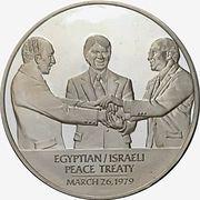 Medal - Egyptian / Israeli Peace Treaty – obverse