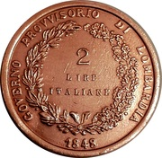 2 Lire (Lega Lombarda) – reverse