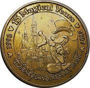 Monnaie de Paris Tourist Token - Disneyland Resort Paris (15 Magical Years) – obverse