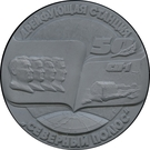 Medal - Drifting ice station North Pole (50th Anniversary) – reverse