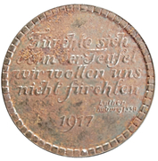 Medal -  Martin Luther Reformation (1517-1917) – reverse