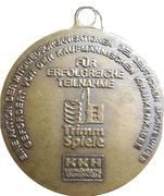 Medal - Radfahren – reverse