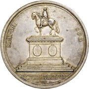 Medal - Completion of Frederik V Statue at Amalienburg – obverse
