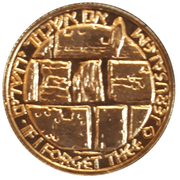 Medal - Temple Tunnel – reverse