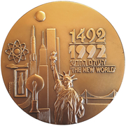 Medal - Discovery of America – obverse