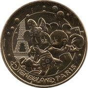 Monnaie de Paris - Disneyland Paris (Mimi et Mickey selfie Tour Eiffel) – obverse