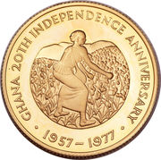 2 Pounds (20th Anniversary of Independence) – reverse