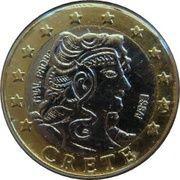 1 E (Crete Euro Fantasy Token) – obverse