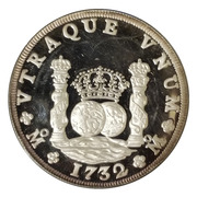 40 Reales / 5 Ounces (Pillar Dollar) – reverse