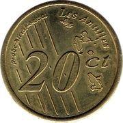 20 Cent (Guadeloupe Euro Fantasy Token) – reverse
