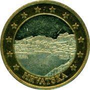 1 (Croatia Euro Fantasy Token) – obverse