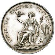 School Medal (INDVSTRIA TEMPORE VTITVR / TEMPVS REMVNERATVR INDVSTRIAM) – obverse