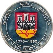 20 ECU - Harald V (Bergen Brygge) – obverse