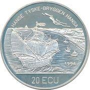 20 ECU - Harald V (Bergen Brygge) – reverse