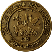 Medal - Town of Kingston, New Hampshire (275th Anniversary) – obverse