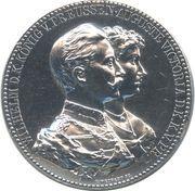 Medal - Wilhelm II and Auguste Victoria (Wedding Anniversary) – obverse