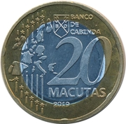 20 Macutas (20th Anniversary of the Introduction of the Common European Currency Euro) – obverse
