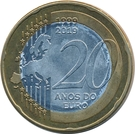 20 Macutas (20th Anniversary of the Introduction of the Common European Currency Euro) – reverse