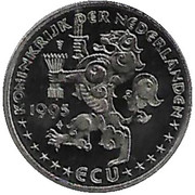1 ECU Beatrix (50 jaar verenigde naties) -  obverse
