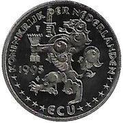 1 ECU Beatrix (50 jaar verenigde naties) – obverse
