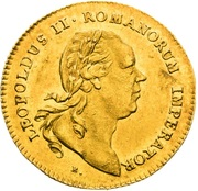 1 Ducat - Leopold II (Election of Holy Roman Emperor) – obverse