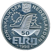 50 Euro - Beatrix (M. C. Escher - 1898-1972) -  obverse
