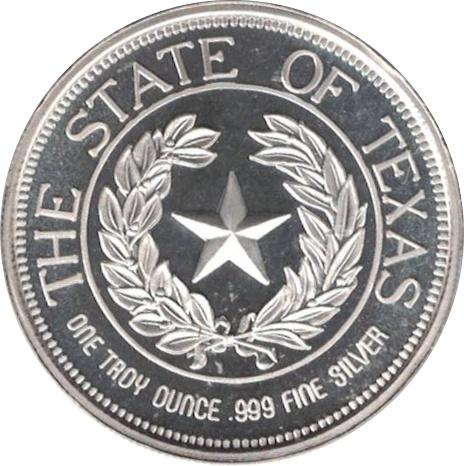 1 Oz Silver State Of Texas Exonumia Numista