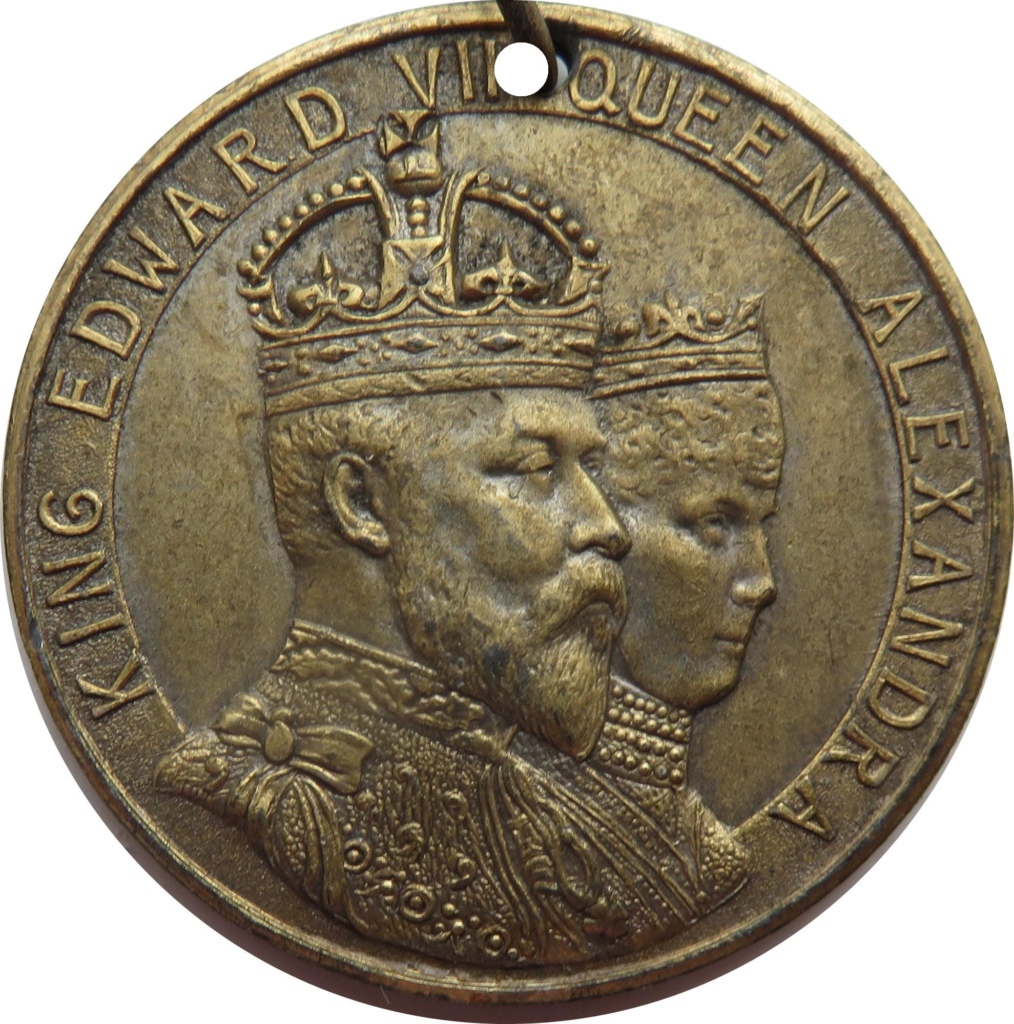 king edward vii and queen alexandra coin