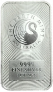 1 oz Silver (Perth Mint Bar) – obverse