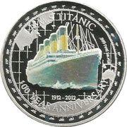 1 oz silver (Titanic) – reverse