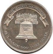1 oz silver (A-Mark - Liberty Bell) – reverse
