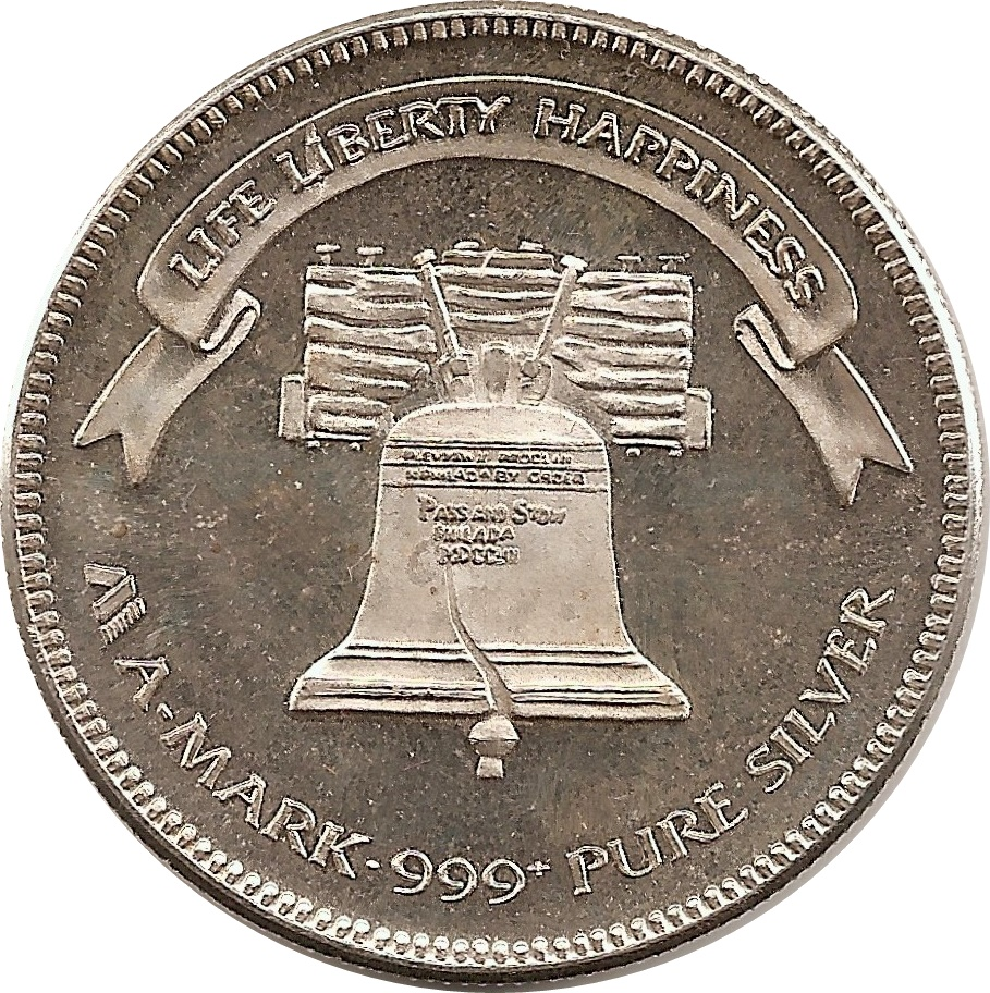 1 Oz Silver A Mark Liberty Bell