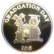 1 oz silver (Garfield Graduation Day) – obverse