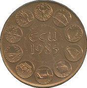 ECU (Europa; 10 countries; bronze florentin) – reverse