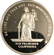 1 oz Silver (San Francisco Committee of Vigilance) – obverse