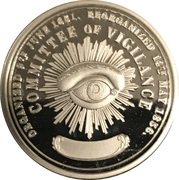 1 oz Silver (San Francisco Committee of Vigilance) – reverse