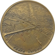 Medal - Construction of the Peace Bridge in Buffalo – obverse