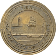 Medal - Construction of the Peace Bridge in Buffalo – reverse