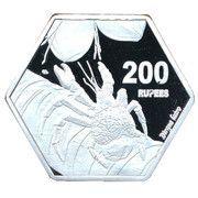 200 Rupees (Coconut crab) – reverse
