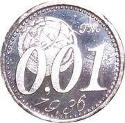 0,01 Euro (Miglianico - Chieti - Abruzzo) – obverse
