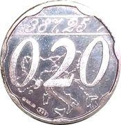 0,20 Euro (Miglianico - Chieti - Abruzzo) – obverse