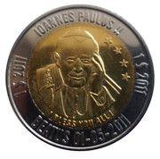 1 Dollar (John Paul II; with stars) – reverse