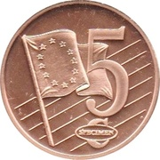 5 Cent (Lithuania Euro Fantasy Token) – reverse