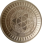 1 oz silver (Year of the Monkey) – reverse