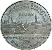 25th wedding anniversary medal given by the mayor of Riga – obverse