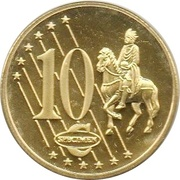 10 Cent (Lithuania Euro Fantasy Token) – reverse